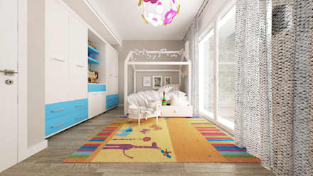mediterranean Nursery/kid's room by De Vivo Home Design