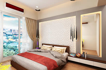 Master bedroom.: modern Bedroom by The inside stories - by Minal