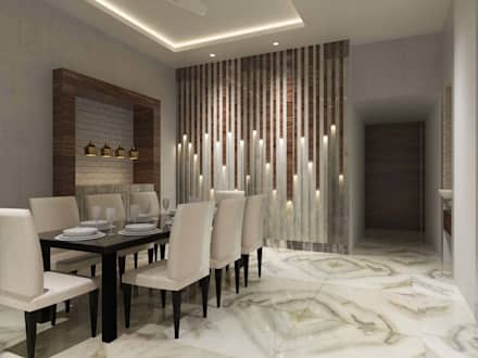 Contemporary Design Minimalistic Dining Room By Bhavana Jain Designs