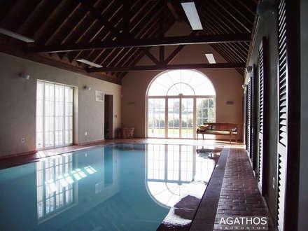 sanierung und erweiterung eines landhauses in raeren belgien landhausstil pool von architekturbro sutmann - Pool Design Ideen Bilder