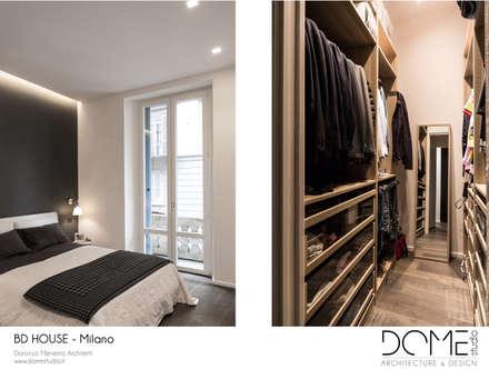 minimalistic Dressing room by DOME studio