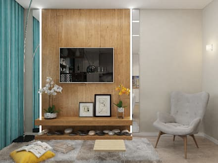 mediterranean Living room by Гузалия Шамсутдинова | KUB STUDIO