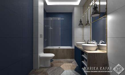 rustic Bathroom by Marika Kafar Autorska Pracownia Projektowa