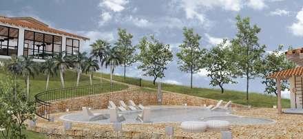 RECREACIÓN ACCESIBLE: Piscinas de jardín de estilo  por BICHO arquitectura