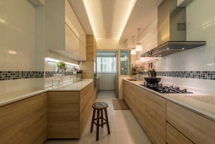 Design U0026 Build: New HDB @ Sumang Link (Eclectic): Eclectic Kitchen By