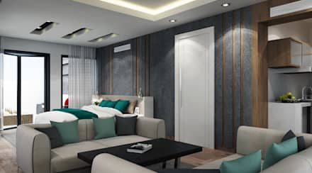 :  غرفة نوم تنفيذ SA Architects and Partners