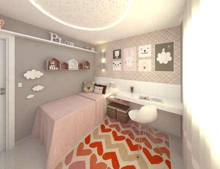 minimalistic Nursery/kid's room by Grafite - Arquitetura e Interiores
