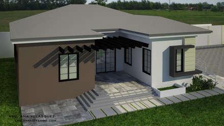 CASA EN EL TIGRITO, EDO ANZOATEGUI: Casas unifamiliares de estilo  por ESCENA VIRTUAL 3D ARQUITECTURA