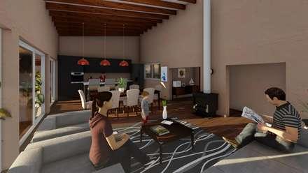 Living-comedor: Livings de estilo mediterraneo por Atelier Arquitectura