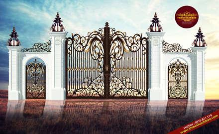 Villas by Cổng nhôm đúc Thiên Thanh Bảo