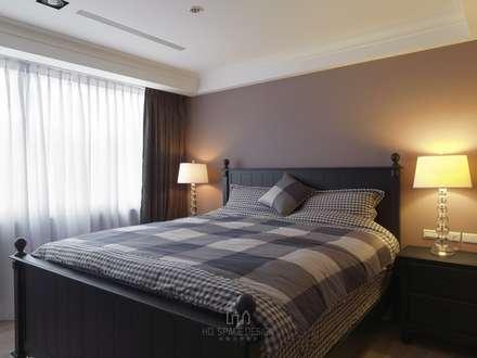 彰化T宅:  臥室 by Ho.space design 和薪室內裝修設計有限公司