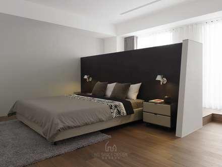 國泰森林觀道劉公館:  臥室 by Ho.space design 和薪室內裝修設計有限公司