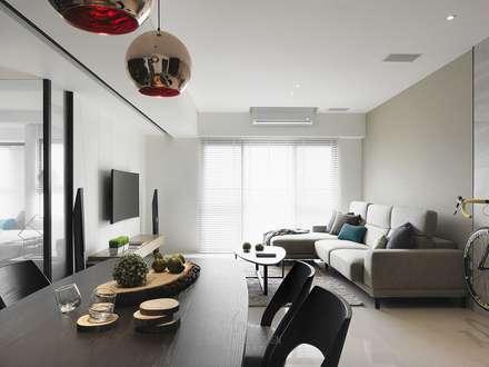 景川匯劉公館:  餐廳 by Ho.space design 和薪室內裝修設計有限公司