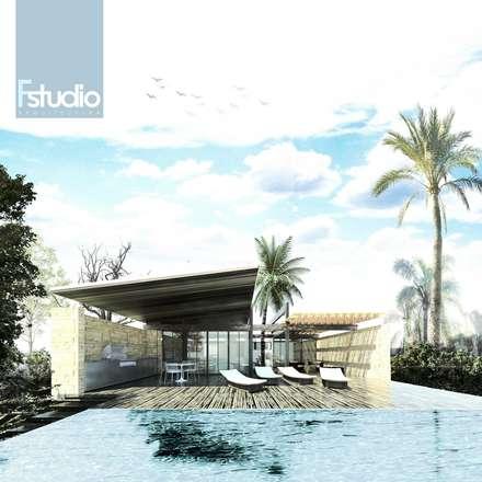 Fstudio Arquitectura의  단층집