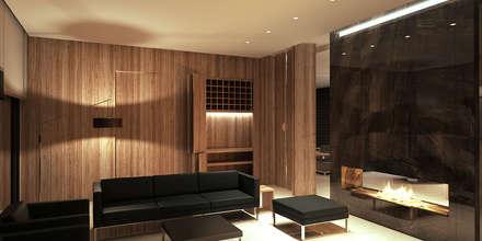 غرفة المعيشة تنفيذ Uraiqat Architects
