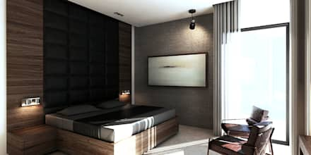 غرفة نوم تنفيذ Uraiqat Architects