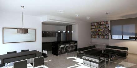 رہنے کا کمرہ  by Uraiqat Architects