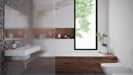 scandinavian Bathroom by Архитектурная студия Чадо
