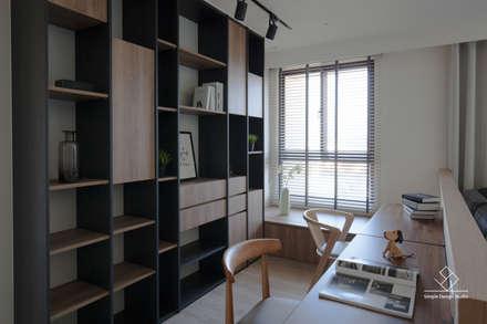 Oficinas de estilo minimalista por 極簡室內設計