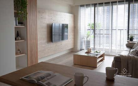 Salas / recibidores de estilo asiático por 極簡室內設計