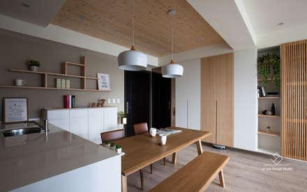 غرفة السفرة تنفيذ 極簡室內設計