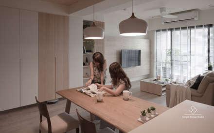 asian Dining room by 極簡室內設計