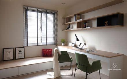 ห้องทำงาน/อ่านหนังสือ by 極簡室內設計