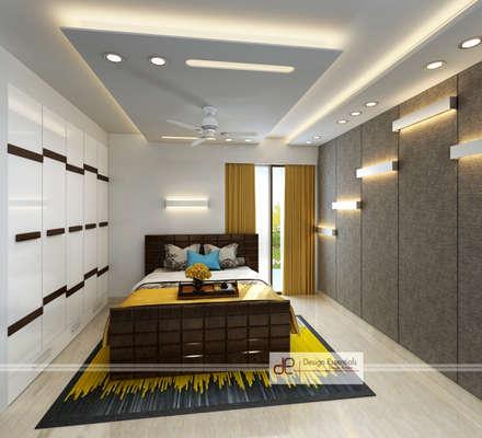 Slaapkamer design idee n inspiratie en foto 39 s homify - Moderne slaapkamer met kleedkamer ...