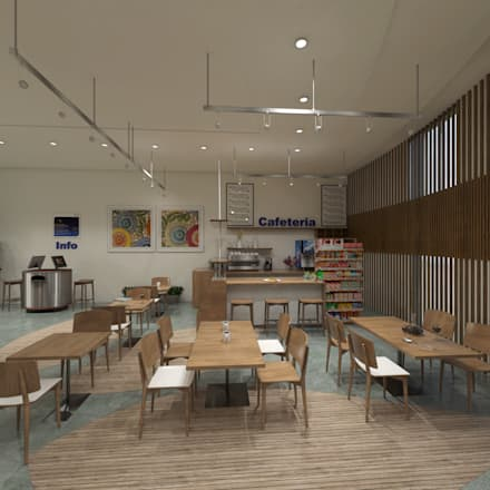 Cafe + Self Service:  Offices & stores by Ravenor's Design Solutions