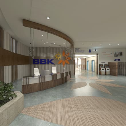 Entrance Lobby + ATM and Self Service:  Offices & stores by Ravenor's Design Solutions