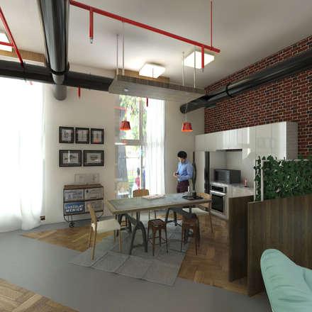 Mini Kitchen:  Office buildings by Ravenor's Design Solutions