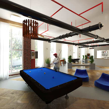 Entertainment and Activity:  Office buildings by Ravenor's Design Solutions