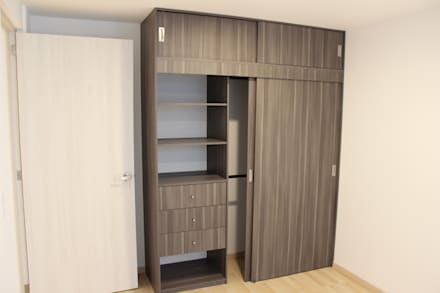 Vestidores y closets modernos ideas homify for Zapateros modernos de pared