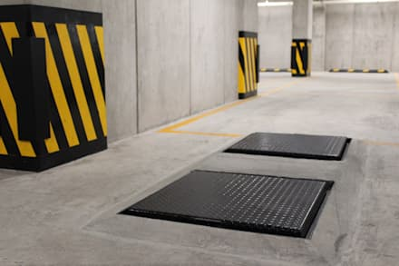 Condominio Vertiz 84 bis: Garajes de estilo moderno por Nube Interiorismo
