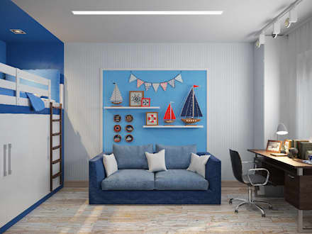 mediterranean Nursery/kid's room by Гузалия Шамсутдинова | KUB STUDIO