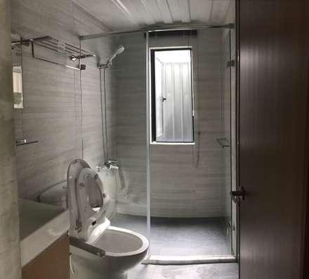 鹿谷貨櫃住宅:  浴室 by 石方室內裝修有限公司