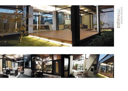貨櫃屋接待所:  房子 by 石方室內裝修有限公司