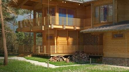 ДЕРЕВЯННЫЙ ДОМ CHALET-390: Деревянные дома в . Автор – project-ks
