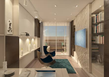 Private Villa: modern Study/office by dal design office