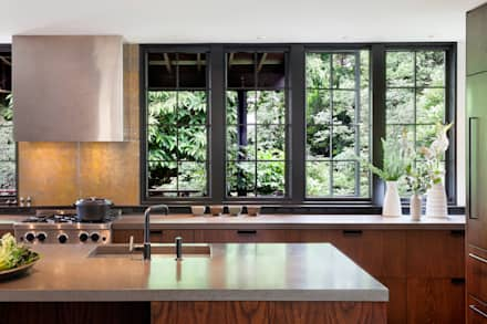 Brick House Transformed: classic Kitchen by Rerucha Studio