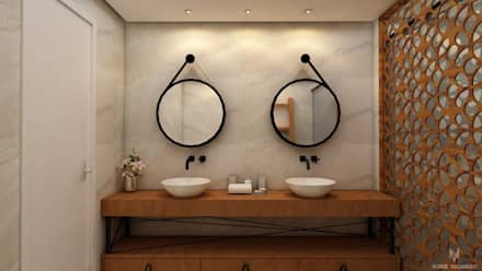 Baños de estilo rústico por Nuriê Viganigo