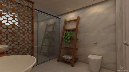 Banheiro suite: Banheiros rústicos por Nuriê Viganigo