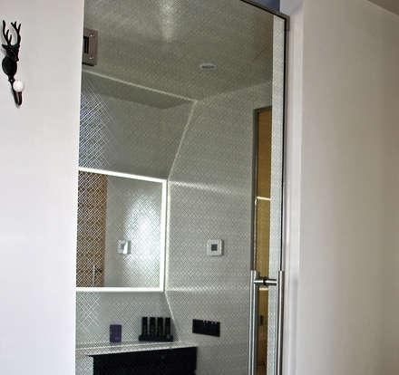 Glass Door with Bespoke Filigree Pattern :  Glass doors by Alguacil & Perkoff Ltd.