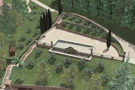 Bio-Piscina per una Country House nelle Marche: Piscina in stile In stile Country di JFD - Juri Favilli Design