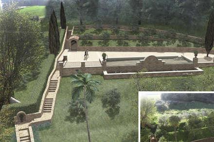 Estanques de jardín de estilo  por JFD - Juri Favilli Design