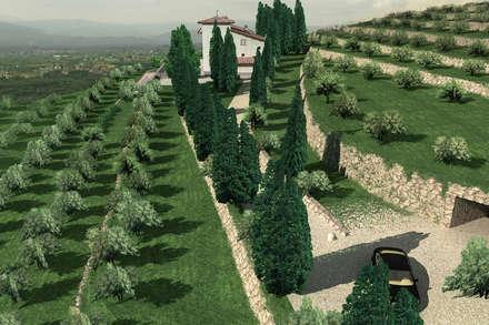 Recupero in Bio-Edilizia di una Villa in Toscana: Casa di campagna in stile  di JFD - Juri Favilli Design