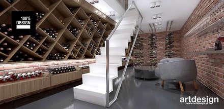 modern Wine cellar by ARTDESIGN architektura wnętrz
