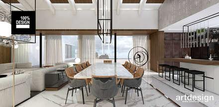 TAKE THE PLUNGE! | I | Wnętrza rezydencji | Projekt salonu: styl , w kategorii Jadalnia zaprojektowany przez ARTDESIGN architektura wnętrz
