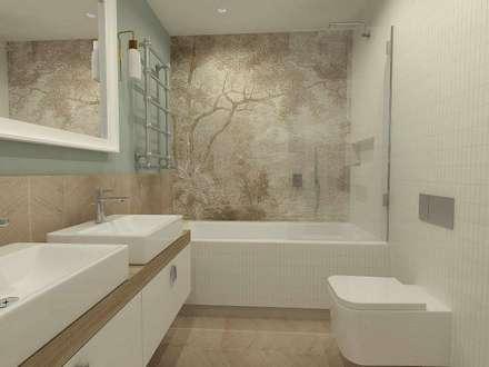 colonial Bathroom by Interior Idea Projektowanie Wnętrz