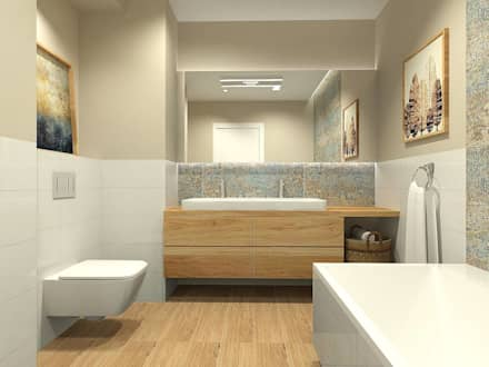 Mieszkanie Gdańsk Wrzeszcz: styl , w kategorii Łazienka zaprojektowany przez Interior Idea Projektowanie Wnętrz